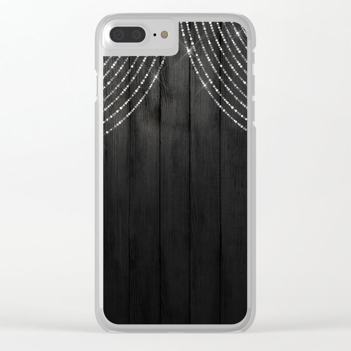 Fairy Lights on Wood 06 Clear iPhone Case