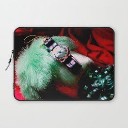 Time For Red And Green Stuff Laptop Sleeve
