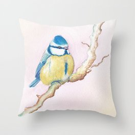 Resting Bird Throw Pillow