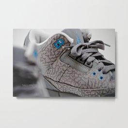 Air Jordan Retro 3 GS Metal Print