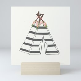 Teepee Stripes Mini Art Print