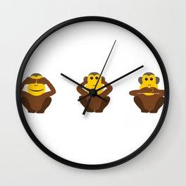 See No Evil Hear No Evil Speak No Evil Monkeys Wall Clock