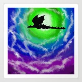 Flight Across the Moon Art Print