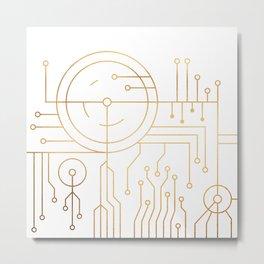 Awaited Embrace Metal Print