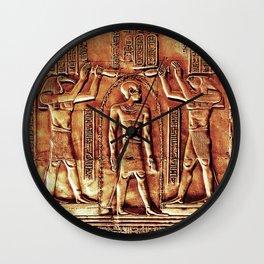 Egyptian Thoth Horus Hieroglyph Pyramid Wall Clock