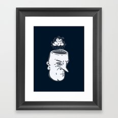 Rain Brain Framed Art Print