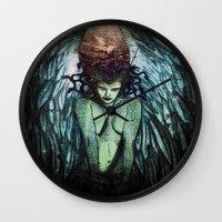 medusa Wall Clocks featuring Medusa  by CLE.ArT.