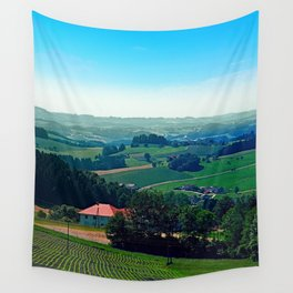 Spring scenery with hazy horizon Wall Tapestry