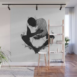 Passionate love. Wall Mural