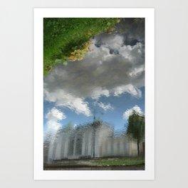 Dublin Grand Canal Reflections Art Print
