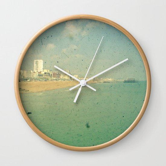 City by the Sea Wall Clock