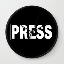 Press pass Wall Clock