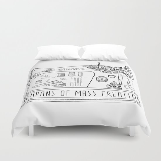 Weapons Of Mass Creation Sewing Duvet Cover By Bianca