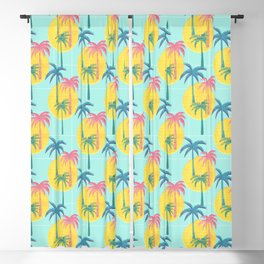 Retro Palms Blackout Curtain