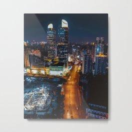 City Lights Downtown (Color) Metal Print