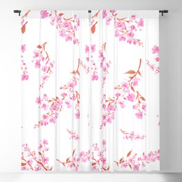 Cherry Blossoms floral Blackout Curtain