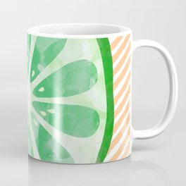 Lime Abstract Coffee Mug