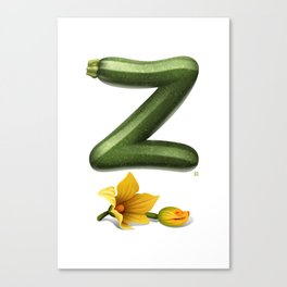 Z is for Zucchini Canvas Print