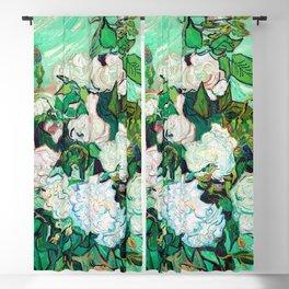 Vincent van Gogh Roses III Blackout Curtain