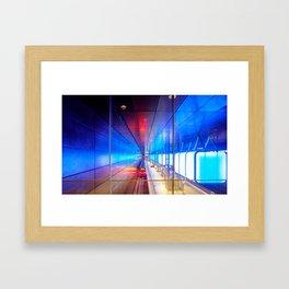 City metro station Hamburg Framed Art Print