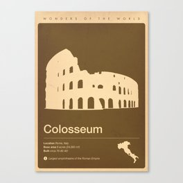 Colosseum, Italy Canvas Print