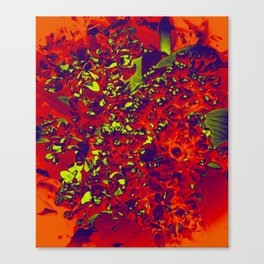 Floral Abstraction in red Canvas Print