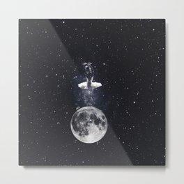 Ballerina on the moon. Metal Print