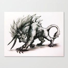 Final Fantasy Behemoth Canvas Print
