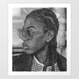 SHADES AND CORNROWS Art Print