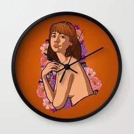 Lady Peony Wall Clock