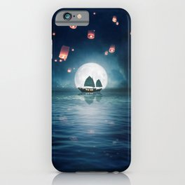 Travel through the Lights iPhone Case
