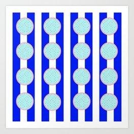 polka stripe Art Print