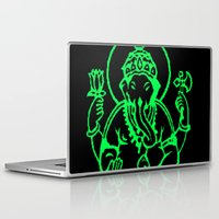 hindu Laptop & iPad Skins featuring Hindu god by Littlefox