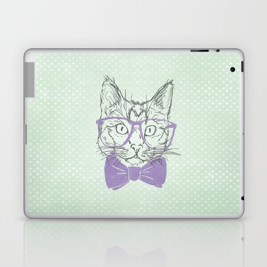 Hipster Kitten Laptop & iPad Skin