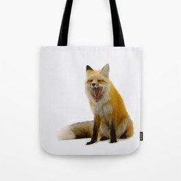 Yawning Fox Tote Bag