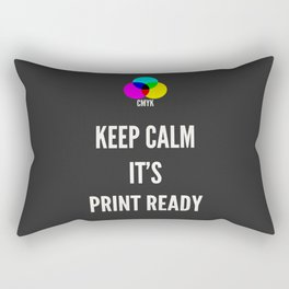 Print Ready Dark Rectangular Pillow