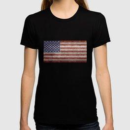 USA flag, High Quality retro style T-shirt