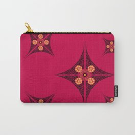Pata Pattern in Black on Pink Carry-All Pouch