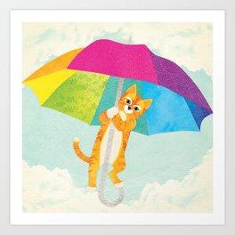 Shanti Sparrow: Penny the Cat Art Print