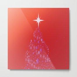 Foil Christmas Tree Metal Print