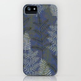 Ferns Slate iPhone Case