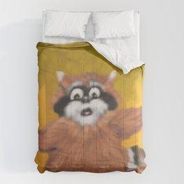 Raccoon Series: Come Look! Comforters