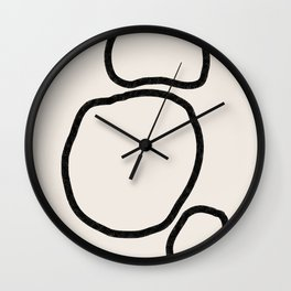 Abstract Stones, Minimalist Art Wall Clock