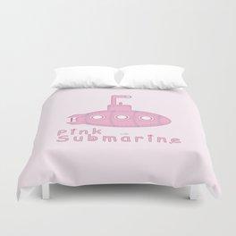 Pink submarine Duvet Cover