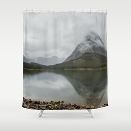 Reflection of Mountains - Glacier NP Shower Curtain
