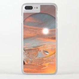 Lunar Sunset Clear iPhone Case