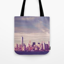 New York City Skyline Waterfront Tote Bag