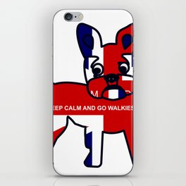 French Bulldog Keep Calm and Go Walkies iPhone Skin