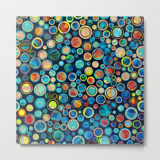 Dots on Painted Background Metal Print