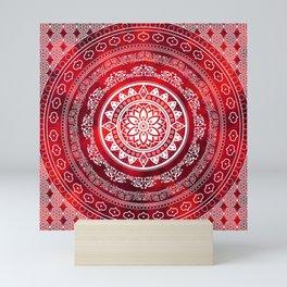 Mandala Scarlet Destiny Spiritual Zen Bohemian Hippie Yoga Mantra Meditation Mini Art Print